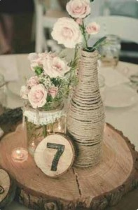 wooden numbers wedding