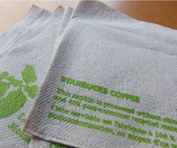 Starbucks napkins