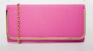 clutch bag in pink