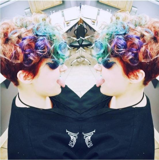colourful curls