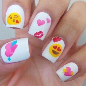 emoticons nail art