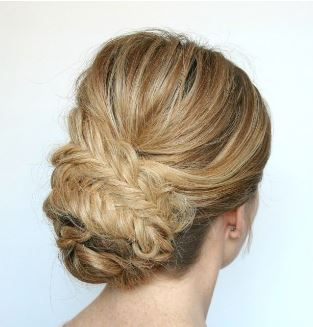 fishtail low bun