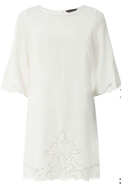 ivory cutwork shift dress