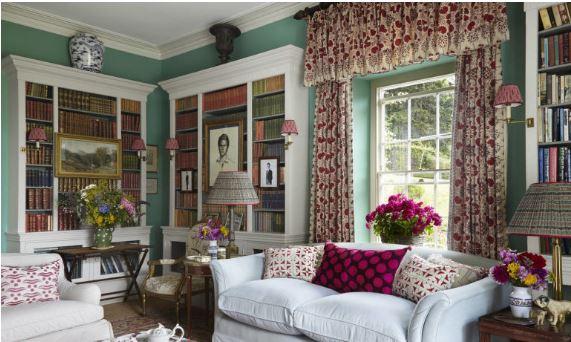 linen print curtains