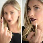 lipstick teeth hack