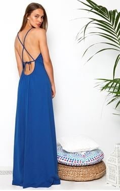 maxi cross back dress