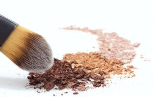 mineral powder and nail polish