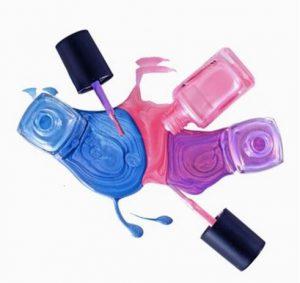 mixing nail polishes