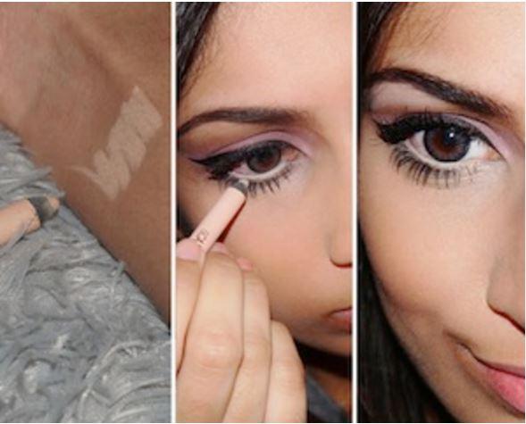 nude eyeliner hack