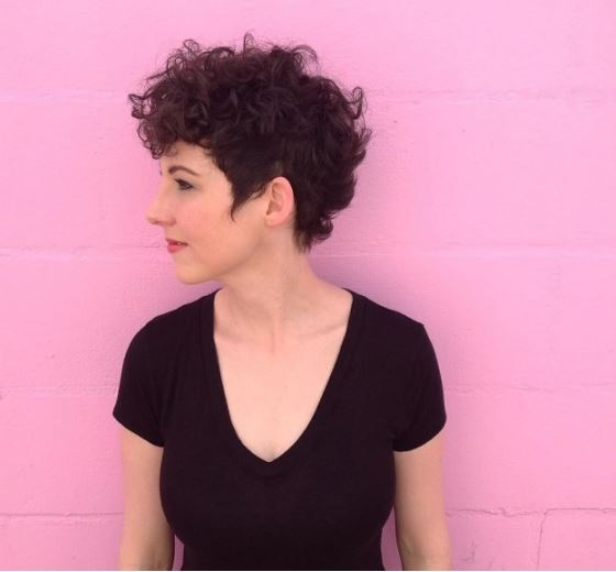 pixie cut for curly hair