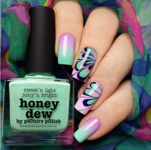 watercolor manicure