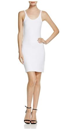 white body-con dress