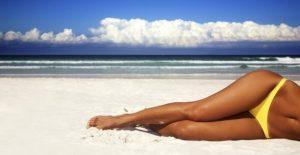 Suntanned legs