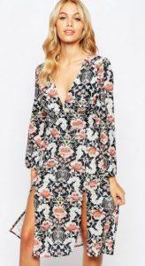 floral dress with V