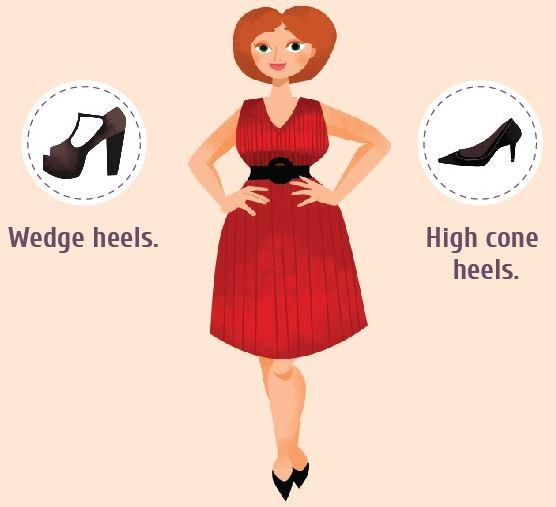 footwear for apple body