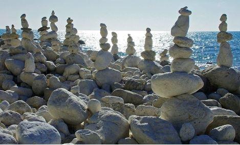 human-made pebbles