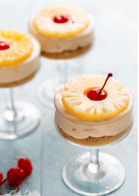 pineapple cheesecakes