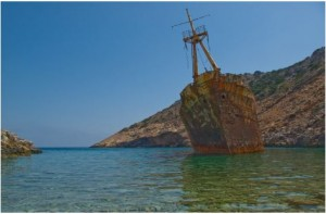 shipwreck of Amorgos