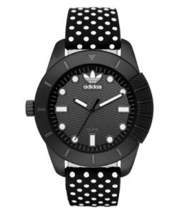 ADIDAS Stan Originals Polka Dot Black Leather Strap