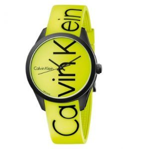 Calvin Klein Color Yellow Rubber Strap