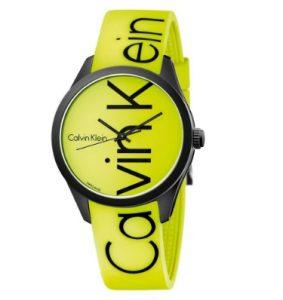 Calvin Klein Color Yellow Rubber Strap