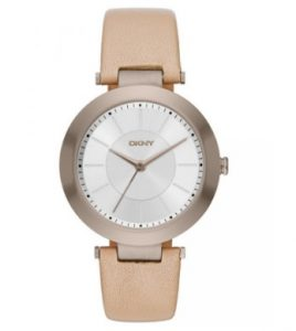 DKNY Stanhope Beige Leather Strap