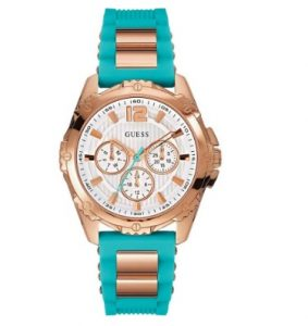 GUESS Intrepid 2 Turquoise Rubber Strap