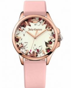 Juicy COUTURE Jetsetter Rose Gold Pink Rubber strap