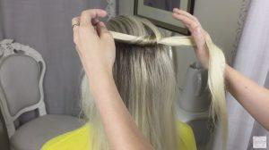 Knot braid step 1