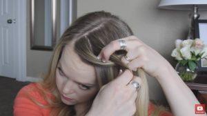 Looped knot braid step 1