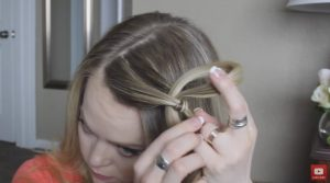 Looped knot braid step 2