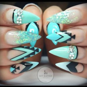 aztec stiletto nails