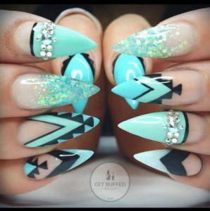 aztec stiletto nails