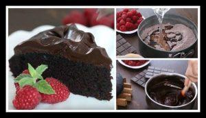 Το πιο εύκολο κέικ σοκολάτας με γκανάζ που έχω φτιάξει ποτέ!