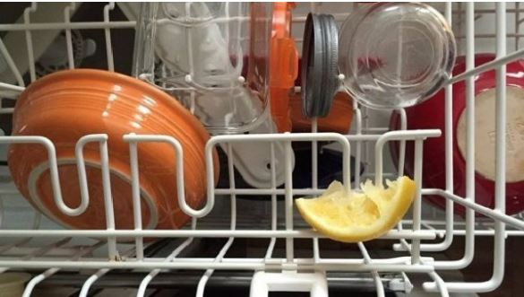 lemon in dishwasher