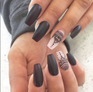matte Coffin nails ediva.gr