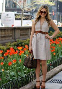 neutral colour dress