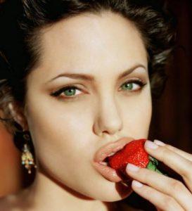 strawberries and teeth