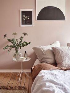 χρώμα τοίχου απαλό ροζ