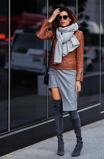 f00b3df0eb3 Ο συνδυασμός τους με over-the-knee μπότες είναι ιδανικός μιας και θα  καλύπτουν το κομμάτι που θα αφήνει γuμνό το φόρεμα, ...