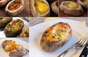 Συνταγή για πατάτες στο φούρνο γεμιστές με αυγά!