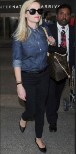 reese-witherspoon-jean-shirt-and-pants-flat-shoes