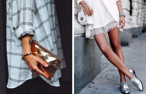 6 Υπέροχοι τρόποι για να βάλεις τα μεταλλικά χρώματα στο outfit σου!