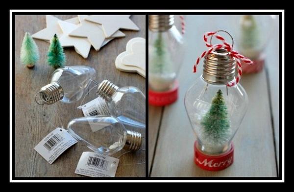 Πως να φτιάξεις χριστουγεννιάτικα στολίδια για το δέντρο από λάμπες!