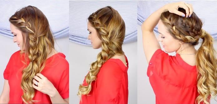 5 Εύκολα γιορτινά χτενίσματα για μακριά μαλλιά!