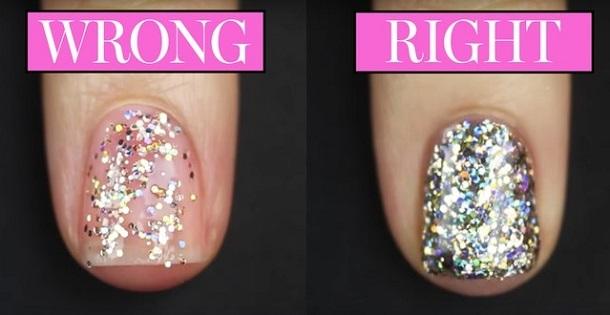 Πως να βάλεις σωστά ένα glitter βερνίκι νυχιών!