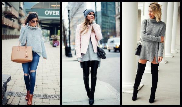 17 Τρόποι για να φορέσεις το γκρι πουλόβερ σου!