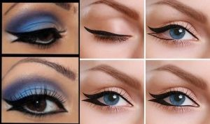 fishtail eyeliner makeup