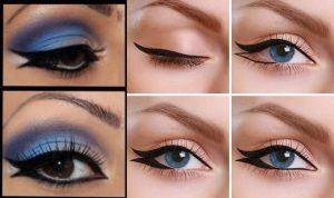 fishtail eyeliner makeup