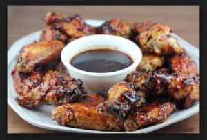 Φτερούγες κοτόπουλο με BBQ sauce!